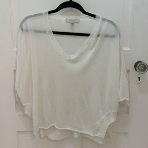 Anthropologie sheer white sweater. Size XS.